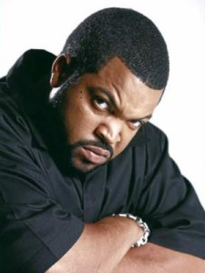 Ice Cube, pictured here on the set of 'Annoyed Urban Officer'
